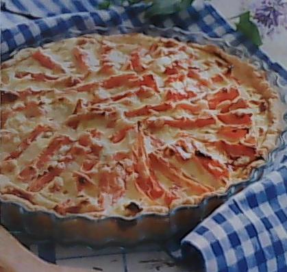 Открытый пирог с морковью